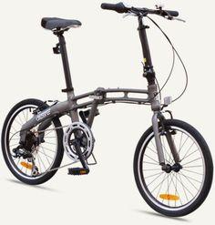 "GOTHAM2 Citizen Bike 20"" 7-Speed Folding Bike with Alloy Frame (Graphite)"