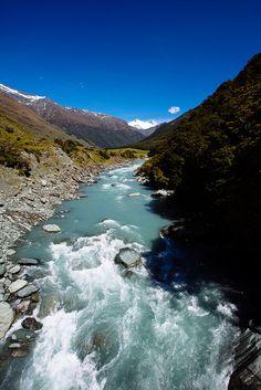 Matukituki river  New Zealand