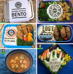 LOST Bento Boxes. I never saw lost so I don't know what these boxes are about, but as art they are awesome