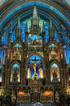 """cvllam: """" Interior of the Basilica of Notre Dame in Montreal, Canada. """" Interior of the Basilica of Notre Dame in Montreal, Canada. Art Et Architecture, Beautiful Architecture, Beautiful Buildings, Basilica Architecture, Montreal Architecture, Beautiful World, Beautiful Places, Architecture Religieuse, Notre Dame Basilica"""