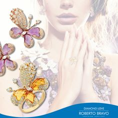 Romantik ve feminen: Diamond Love. // Romantic and feminine: Diamond Love. // Романтический и женственный: Diamond Love.  #RobertoBravo #RB #Inspiring #Jewellery #Diamond #Gold #Stylish #Trend #Shopping #Style #Fashion #SiradisiKadin #Love #Jewelry #Extraordinary #DiamondLove