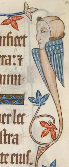 Detail from The Luttrell Psalter, British Library Add MS 42130 (medieval manuscript,1325-1340), f80r