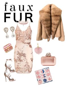 """""""Faux fur"""" by djurik-lea on Polyvore featuring Jimmy Choo, Dolce&Gabbana, Adolfo Courrier, Charlotte Russe and Chanel"""