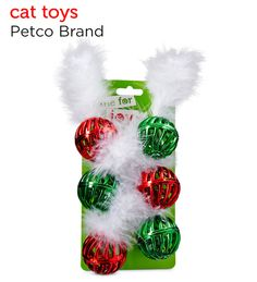 Rev up the fun with these jeweled tone cat toys from Petco's Holiday Gift Guide.