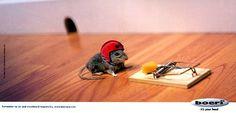 Safety first mouse (Boeri helmet advertisement)
