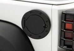 Jeep Accessory - Rugged Ridge Jeep Wrangler Stainless Steel Fuel Door - TJ / LJ / JK