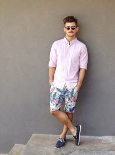 Boxing Day in Sperry topsider, Zanerobe shorts, The Spencer Project shirt and Oliver Peoples shades