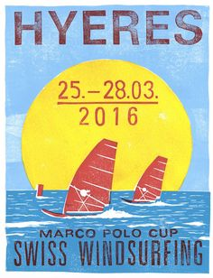 Swiss Windsurfing Plakat-Serie 2016 Web Design, Marco Polo, Windsurfing, Illustration, Things To Do, Design Web, Illustrations, Website Designs, Character Illustration