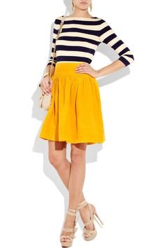 Moschino Ruched linen-blend skirt £600