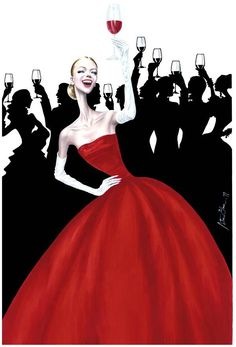 Happy New Year Party~Arturo Elena Fashion illustration