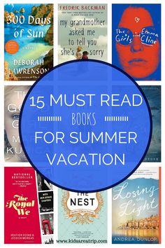 If you're looking for the perfect summer page turner, we have you covered with these 15 must read books for summer vacation.-Kids Are A Trip