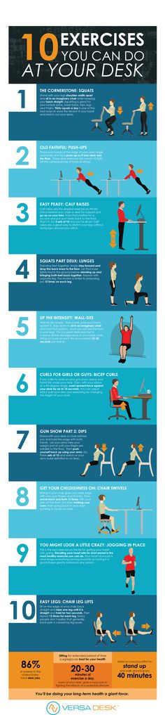 These 10 easy exercise that you can do at your desk will do your body wonders! Desk Workout, Easy Workouts, You Can Do, How Are You Feeling, Exercise, Canning, Health, Easy Fitness, Ejercicio