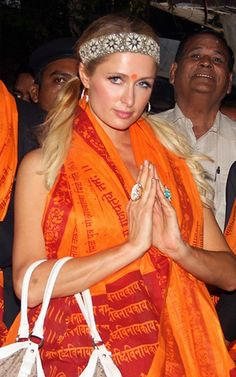 Paris Hilton at the famed Siddhivinayak Temple, Mumbai, Dec, 12