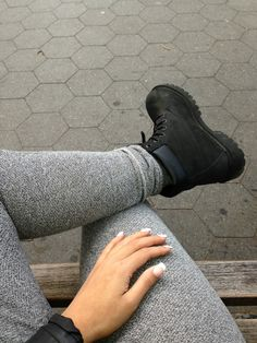 Premium Waterproof Boots by Timberland Outfits Con Botas Timberland, Timberland Stiefel Outfit, Soft Grunge, Black Timbs, Outfits With Black Timberlands, Tims Outfits, Black Boots, Cute Shoes, Me Too Shoes