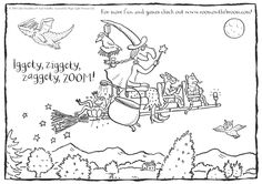 Check out this Room on the Broom printable. Print off for the little ones to colour in!