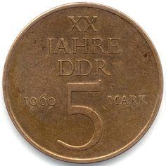 5 Mark der DDR   < 345° oD https://de.pinterest.com/andreasbartylla/history/