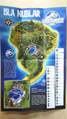 Jurassic world the map of jurassic world on isla nublar welcome map of isla nublar jurassic world 2015 22504000 gumiabroncs Gallery