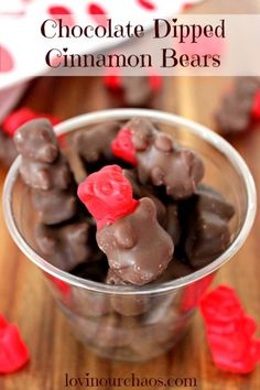 Chocolate Dipped Cinnamon Bears ~ Quick and Easy treat to make! <3