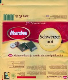Schweizer not, milk chocolate with chopped hazelnuts, 200g, 01.04.2004 Made in Sweden by Kraft Freia Marabou AB, Sundbyberg