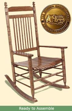Enjoy the comfort of an authentic Cracker Barrel Old Country Store(R) rocking chair in your own home with our Slat Rocker with slat seat. $139.99