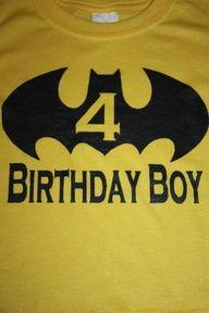 Batman Birthday Boy T shirt