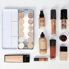 anthonymerante: These are the foundations I carry in my professional makeup kit, ranging from full coverage to a sheer tint. Makeup Inspo, Makeup Inspiration, Beauty Makeup, Eye Makeup, Hair Makeup, Hair Beauty, Makeup Kit Essentials, Oily Skin Makeup, Professional Makeup Kit