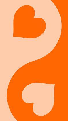 orange heart yin yang by y2krevival   Redbubble