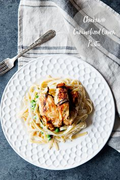 Simple Chicken and Caramelized Onion Pasta Recipe from the Five Ingredient…