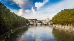 #Italy is crossed by many charming #rivers which offer a natural scenic beauty. The longest ones are located in the northern Italy, because the #Apennines split the country in two parts. colosseo tevere