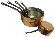 French Copper Sauce Pans eclectic cookware and bakeware