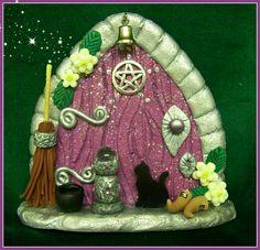 Purple Witch Fairy Door