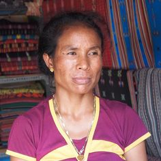 """Woman at the Tais Market, Dili, East Timor 