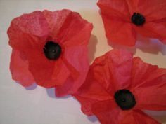 how to make a red poppy out of tissue paper