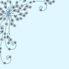 Swirly Snowflakes Paper