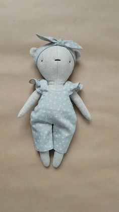 Toddler Toys, Kids Toys, Handmade Soft Toys, Etsy Handmade, Fabric Toys, Sewing Dolls, Doll Patterns, Bear Patterns, Diy Doll