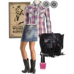 Well behaved cowgirls rarely make history  -created by crfwestern on Polyvore