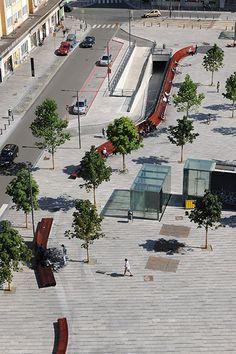 Place Flagey by Latz + Partner 05 © Serge Brison « Landscape Architecture Works | Landezine Landscape Architecture Works | Landezine