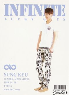 Sung Kyu ♡ #INFINITE - Official Collection Cards Vol.1