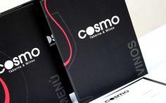 Diseño e impresión de cartas de menú para Cosmo