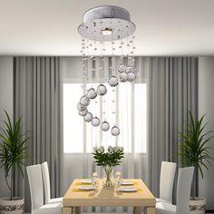 OOFAY LIGHT® Lampada lampadario di cristallo moderno Semplice ed elegante un filo lampadari di cristallo appesi ristorante: Amazon.it: Illuminazione