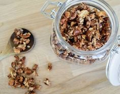 """Low FODMAP Simple Delish Granola  Being back at work means my long lazy breakfasts are a thing of the past  I need something filling that I can occasionally have on the go and that doubles as a wonderful snack if I don't have time to finish it all before the alarm to start getting ready goes off.  This is where Granola ticks all the right boxes. High in protein and healthy fats this granola recipe will keep you going for hours on end.   Some people are still caught up in the whole """"fear the…"""