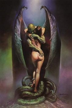 by: Frank Frazetta one of my Father's favorite Artists, I don't like all of his works, but many are pretty awesome.
