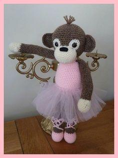 Amigurumi, crochet, singe, modèle de Christel Krukkert