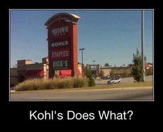 Now i know why i dont like Kohls.