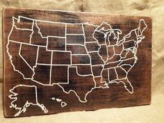 Travel Map US Wood Map USA Travel Map Personalized Pin Map - Create a us map with pins