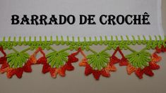 Barradinho de Crochê Com Flores - 01 Por Wilma Crochê