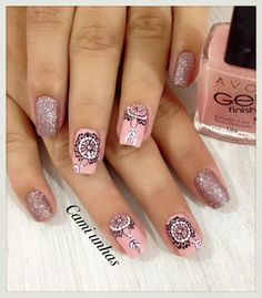 Love Nails, Pretty Nails, Fun Nails, Henna Nails, Nails Inc, Cool Nail Designs, Nail Tools, Finger, Short Nails