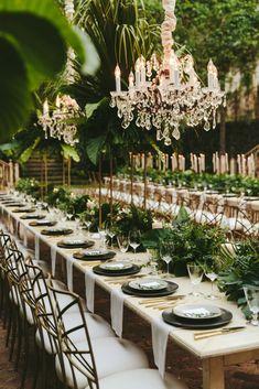 Old World Europe meets Maui's Natural Splendor at Historic Haiku Mill Destination Wedding Decor, Tropical Wedding Decor, Tropical Decor, Floral Wedding, Wedding Colors, Wedding Venues, Tropical Weddings, Tropical Interior, Tropical Colors