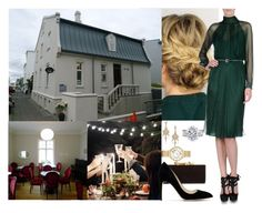 """""""Royal Tour of Iceland: Day 2-Attending a dinner hosted by German Ambassador in Hannesarholt"""" by crownprincesselizabeth ❤ liked on Polyvore featuring Michele, Jimmy Choo, Adriana Orsini, Alberta Ferretti and Rupert Sanderson"""