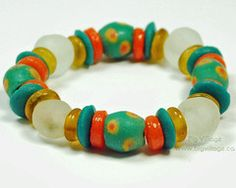 Our jewellery features ethically sourced materials including beads from many countries in Africa. Recycled Glass, Fair Trade, Beaded Bracelets, Turquoise, Orange, Beads, Big, Jewelry, Bangles